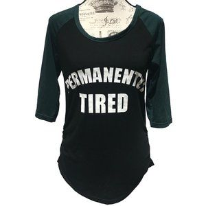 Rue21 Permanently Tired Top Ruched T-Shirt Black